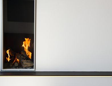 Cozy gas fire