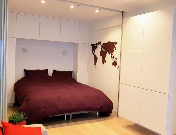 Appartement_zeezicht_oostende_de-loft_slaapkamper_dubbel-bed_dons