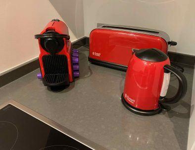 Nespresso with 10 pods, kettle and toaster